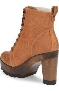 Kelsi-Dagger-Farren-Women-039-s-Genuine-Shearling-Lace-Up-Tan-Leather-boot-8-200
