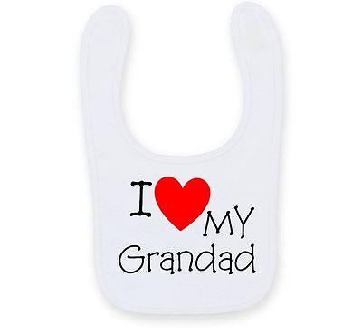 Personalised I Love My Grandad Baby Bib, Cute Funny Auntie Baby Bib B009 Voor Een Soepele Overdracht
