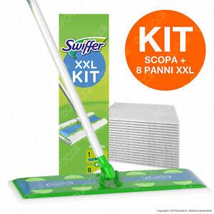 Kit-Swiffer-XXL-Scopa-con-8-Panni-di-Ricambio-per-la-Pulizia-del-Pavimento
