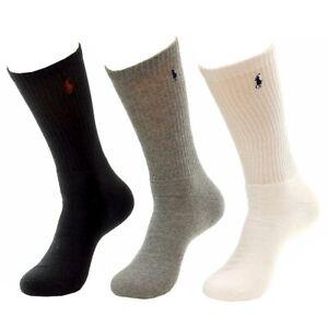 Polo-Ralph-Lauren-Men-039-s-Classic-Sport-3-Pairs-Socks-Sz-10-13-Fits-Shoe-6-12-5