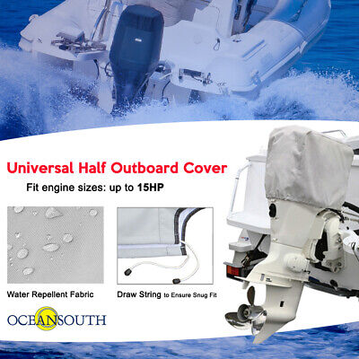 Outboard Boat Motor Engine Cover Up to 25 HP GRAY Universal Trailerable G0