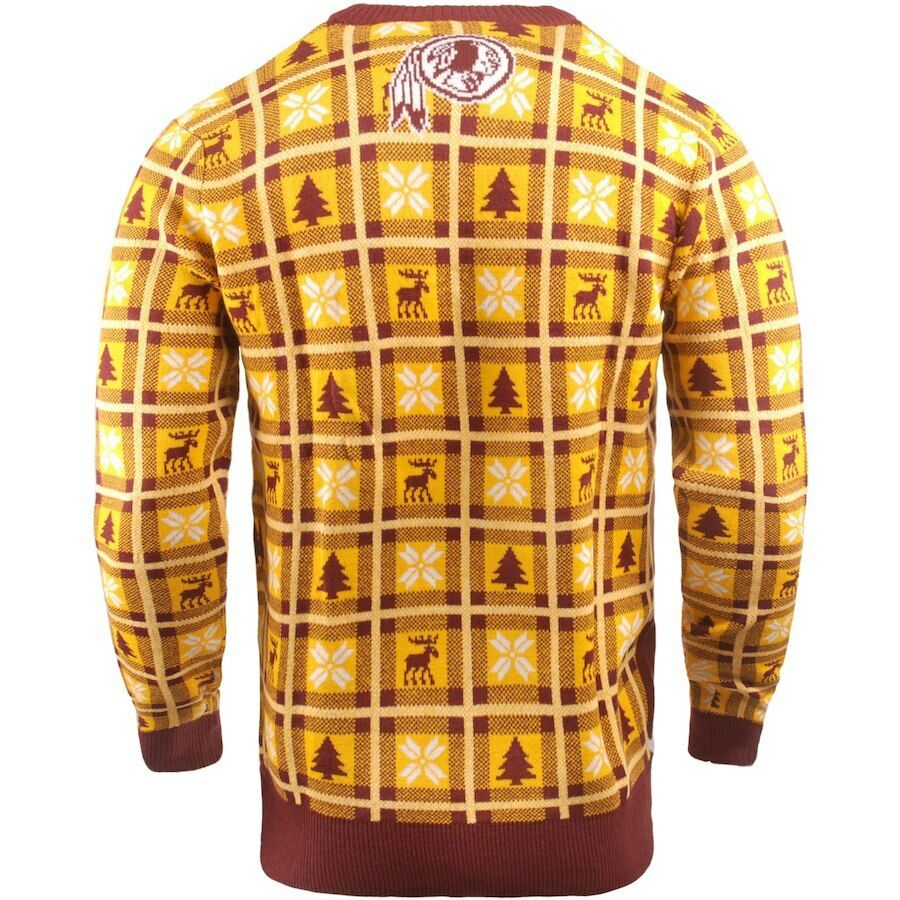 NFL UGLY Sweater Washington rotskins Pullover Christmas Christmas Christmas Big Logo Football 18 6c8cd0