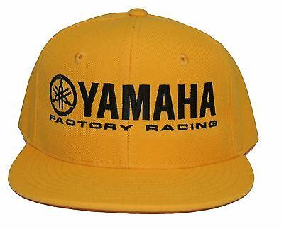 YAMAHA FACTORY RACING hat cap flat bill snapback yellow blue red