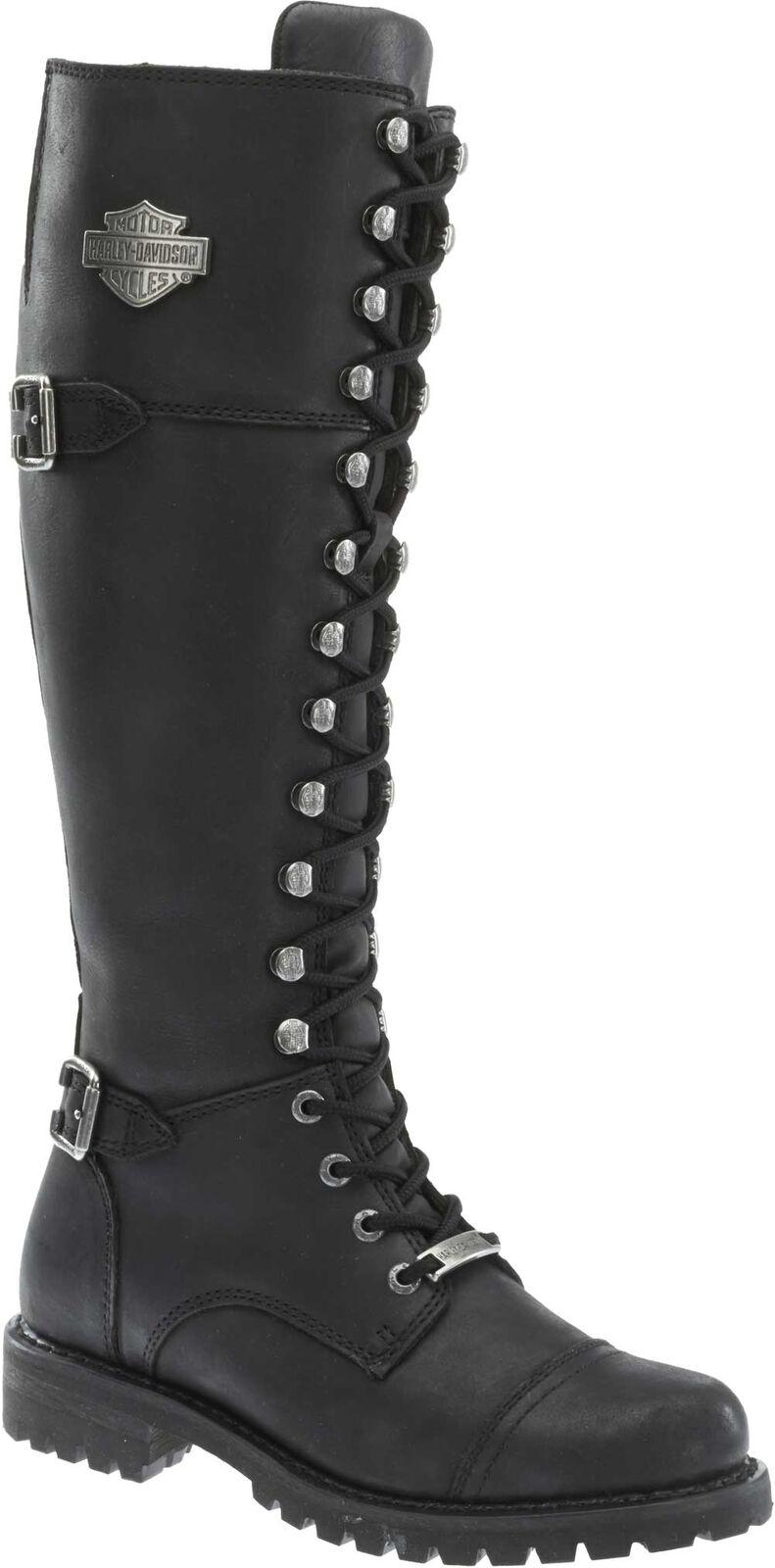 Harley-Davidson Women's Beechwood 15  Motorcycle Boots Black Brn or Stone D83856