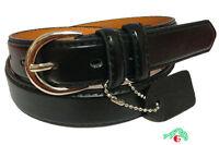 WOMEN/LADIES Skinny Leather Belt BLACK / 5 Sizes Avail S / M / L / XL / XXL