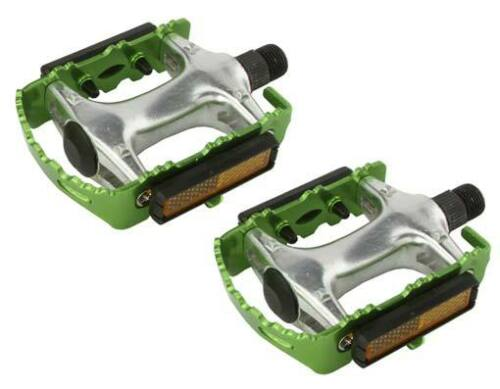 """ROAD MTB 940 Alloy Pedals 9//16/"""" Green cruiser 9//16 pedal.fixie bicycle pedal"""