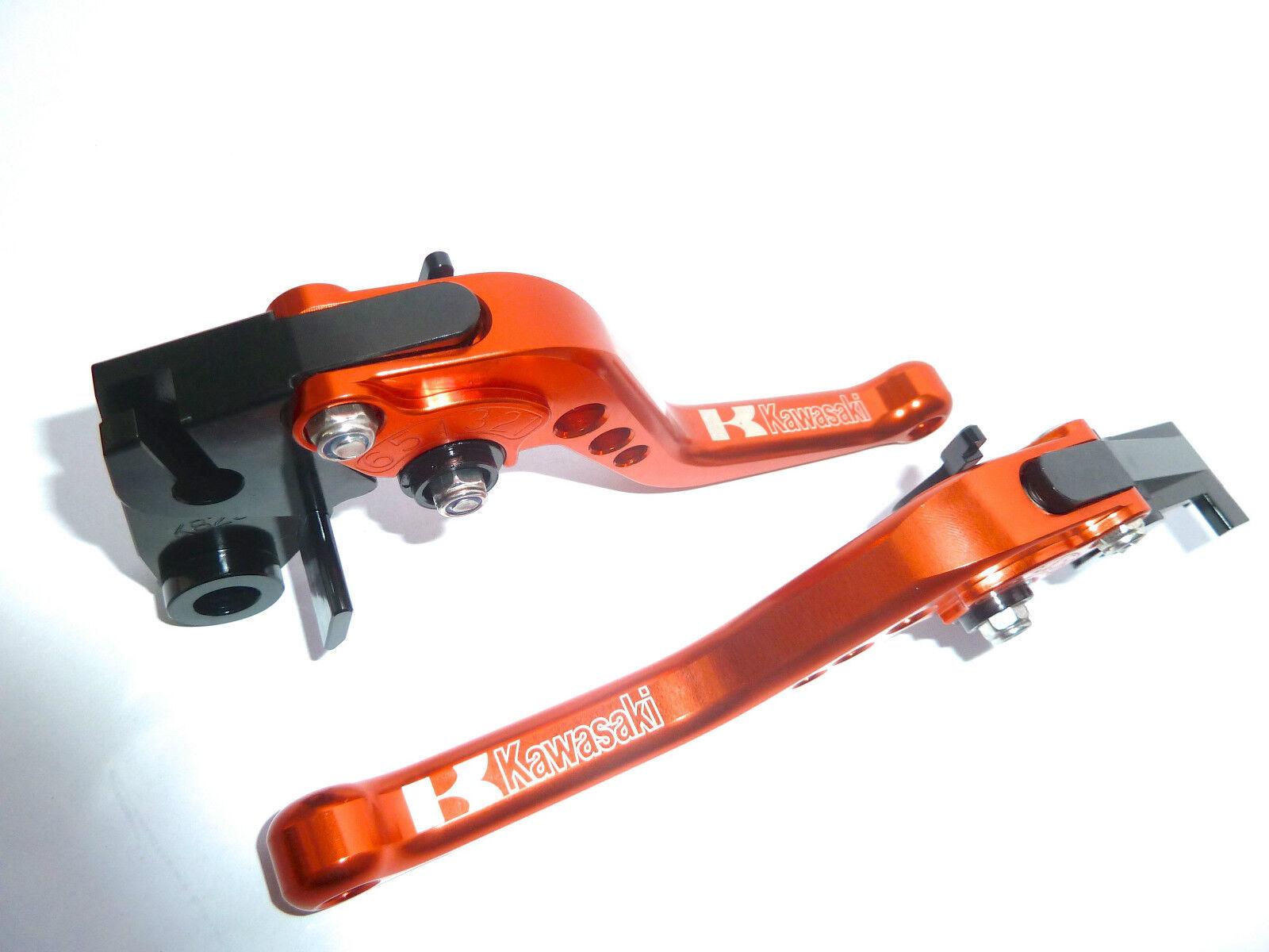 Kawasaki Z800 2013-2016 Kurz Orange Bremse und Kupplungshebel Satz Race Track
