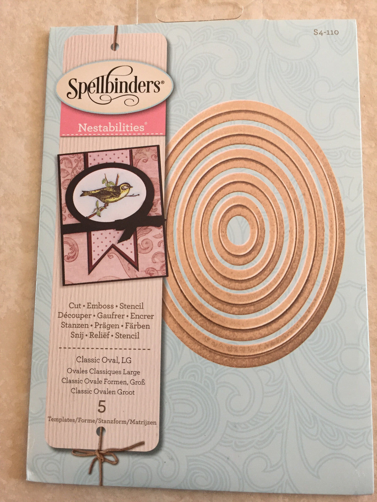 Spellbinders Nestabilities Dies-Deckled Rectangles Large