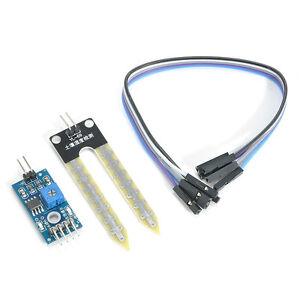 Soil-Humidity-Hygrometer-Moisture-Detection-Sensor-Module-Arduino-w-Dupont-Wires