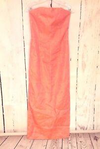 2b5158b83a3 Jessica McClintock for Gunne Sax Sz 7 Strapless Dress Gown Pink Gold ...