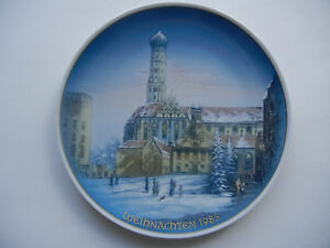 Rosenthal-Christmas-Plate-1985-Augsburg-St-Ulrich-And-Afra-Int-No-1985-2