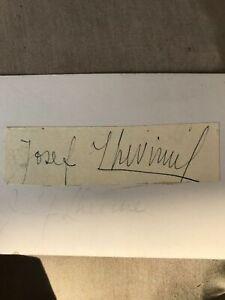 Autograph-Joseph-Lhevinne-1874-1944-Russian-Born-Pianist-S123