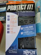 Tripp Lite Surge Protector Power Strip 12 Outlets 2 USB Charging Ports