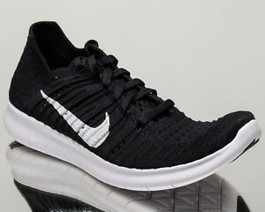 Nike WMNS Free RN Flyknit womens run running shoes NEW black white 831070-001