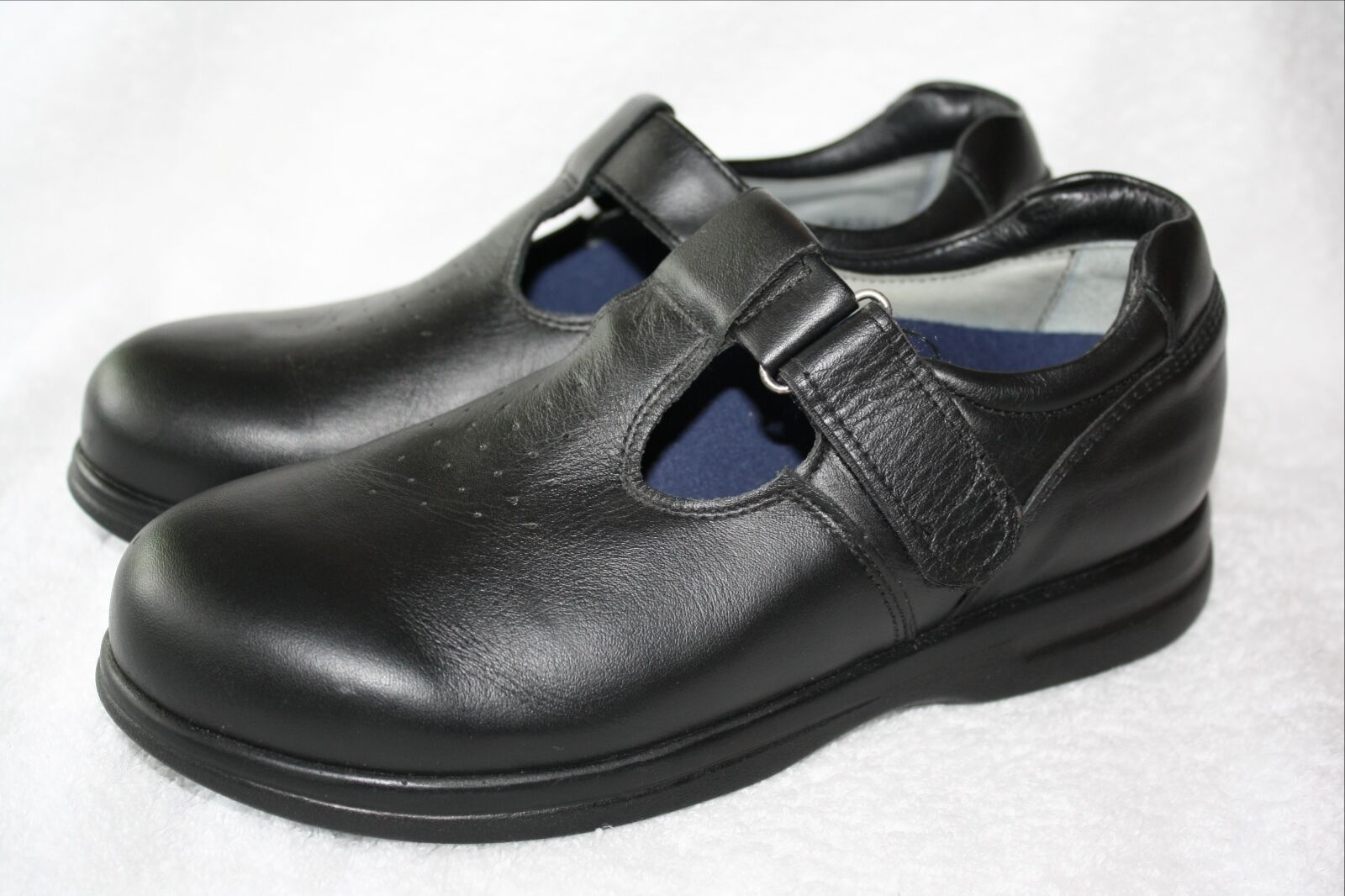 designer online PW PW PW Minor Orthotic Orthopedic Mary Jane Buckle Strap 5.5 D Extra Depth Wide nero  prendi l'ultimo