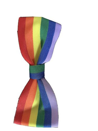 Girls//toddler Support NHS hairclip Rainbow Bow