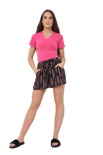 Donna Corto Biancheria Estate Pantaloncini Casual UK 8 10 12 14 16 18