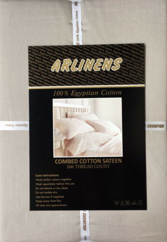 T300 100/% Egyptian Combed Cotton Duvet Cover Fitted Flat Extra Deep Fitted Sheet