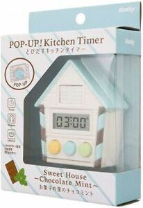 Kitchen Cooking Timer chocolate EX-3110 Hashy Cuckoo clock Pop Up Japan F/S New