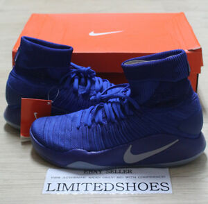 4b96b5004153 NIKE HYPERDUNK 2016 FK FLYKNIT GAME ROYAL BLUE 843390-404 MENS US ...