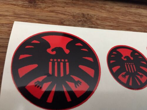 LIVRAISON GRATUITE Marvel Agents of Shield Custom decals 1//6 Scale 003 Red