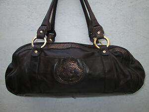 Sac Vintage À Main Authentique Blumarine Saisir Beg Bag Cuir 7dY5Eqwg