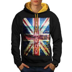 Contrast New Art London Hoodie Men England Hood Black gold Zwq1Ut