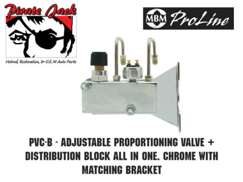 Chrome Adjustable Proportioning Valve Distribution Block Kit With Residuals