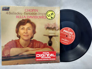 Bella-Davidovich-LP-Chopin-4-Ballades-Philips-6514099-Rare-Digital-NM