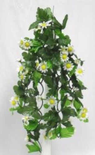 WHITE Daisy Cascading Hanging Flowers Silk Wedding Centerpieces Decor