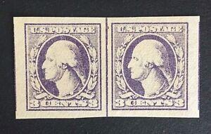 US-Stamp-Scott-535-Type-IV-Line-Pair-1918-XF-M-NH-large-margins-light-shade
