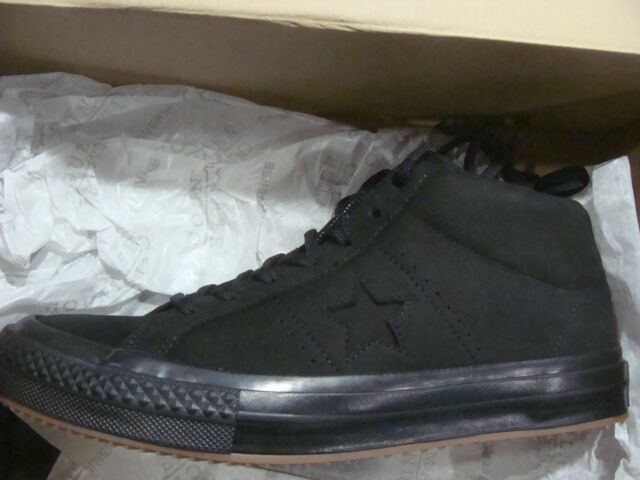 Converse One Star Mid WP Black Nubuck Counter Climate Men Shoes ... 14ad4f34d