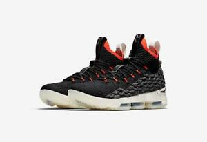 7d8c45f88ba NIKE LEBRON JAMES XV 15 AQ2363 002 BLACK SAIL WHITE BRIGHT CRIMSON ...