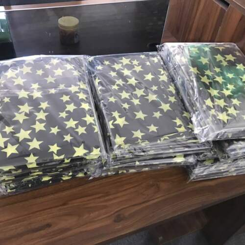 LADIES ** BLACK /& YELLOW STARS** ROCK CHOIR COLOURS SCARF 65 x 28  BRAND NEW