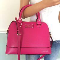 Kate Spade Pink Wellesley Leather Satchel Shoulder Bag Crossbody Purse