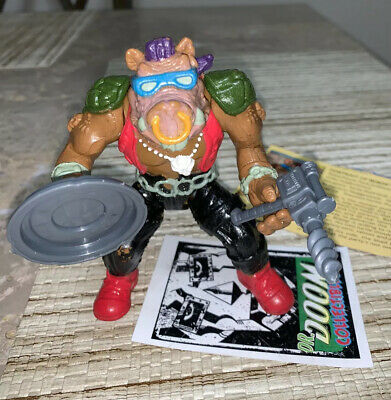 TMNT BEBOP DRILL GUN Playmates Figure Part 1988
