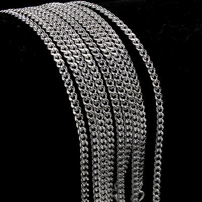 Hot 5pcs Wholesale Silver Rolo Curb Chain Necklace 16-30 inch 2mm
