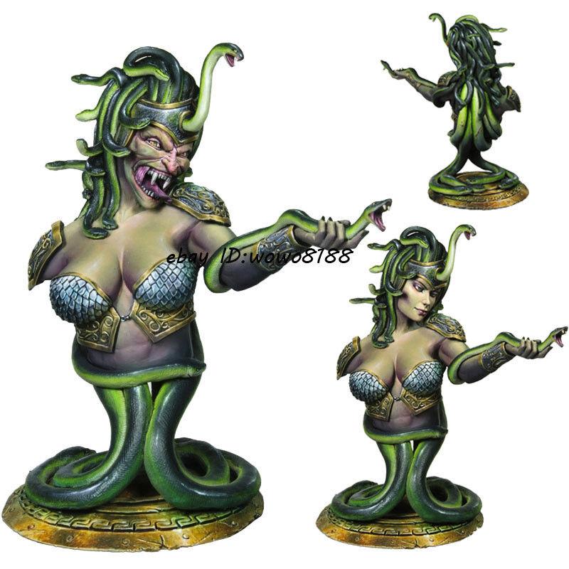 2 Heads 1 8 Sorceress&Snake Bust Model Resin Unpainted Figure Garage Kit Statue