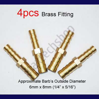 """5//32/"""" BARBED PLASTIC REDUCER HOSE JOINER 1//4/"""" WATER AIR FUEL CONNECTOR."""