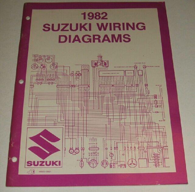 1981 Suzuki Wiring Diagram Manual Gn Pe Ds Dr Ts Sp Gs 125
