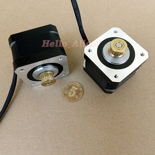NEMA17 42MM 2-phase 4-wire Stepper Motor 5mm Shaft Pulley for CNC 3D Printer DIY