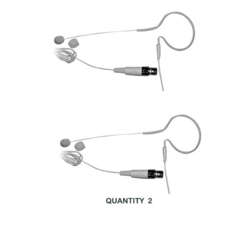 2 LOT OF PYLE PMEMS10 In-Ear Mini XLR Omni-Microphone Mic for Shure System