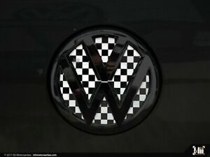 Checkered Flag VW >> Details About Vw Rear Badge Insert Checkered Flag