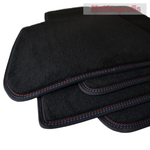 10//2015 Tappetini professionisti velluto tappetini cucitura doppia per BMW x1 f48 ab Bj