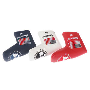 Golf-Cover-Blade-Putter-Cover-Golf-Links-For-Pebble-Beach-Putter-US-Flag-LS