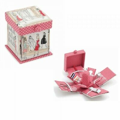 BNWT-Scotties Design-Small Square Fabric Covered Sewing Boxes by Hobby Gift