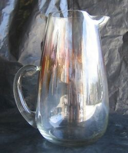 VTG-Dorothy-Thorpe-Pitcher-Mid-Century-Modern-Tapered-Handle-with-gold-accent