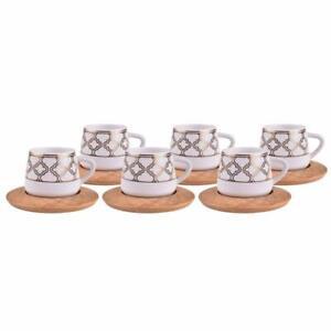 12-Pc-Turkish-Greek-Arabic-Coffee-Espresso-Cup-Saucer-Porcelain-Set-Hanedan
