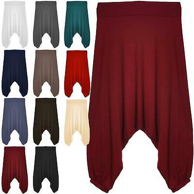 WOMENS LADIES CASUAL BASIC 3//4 LENGTH ALIBABA CROP HAREM LEGGINGS PLUS SIZE 8-24