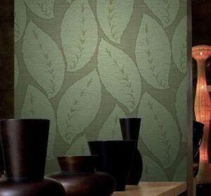 Wallpaper-Green-Gold-Metallic-Lines-Textured-Modern-Rolls-Large-Tree-Leaves-3D